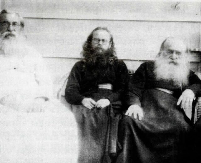 Bp. Feofan, Bp. Nikolai, and Met. Antony in London