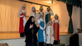 Sister Martha at the Christmas play