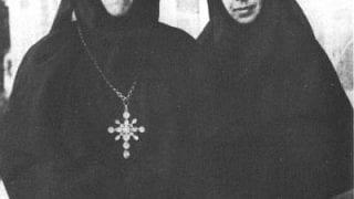 Игумения Мария и ея помощница мон. Варвара - основатели школы в 1936 г.