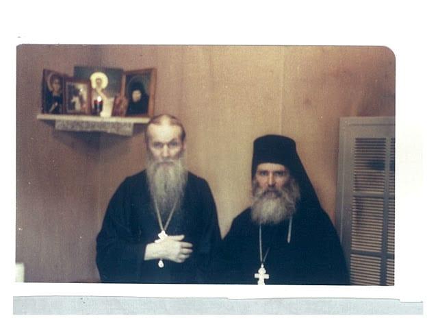 In the Novo-Diveevo convent Metropolitan Philaret and Fr. Kallinikos after his ordination.