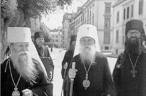 A Meeting between Metropolitan Vladimir and Metropolitan Anastasii (1950)